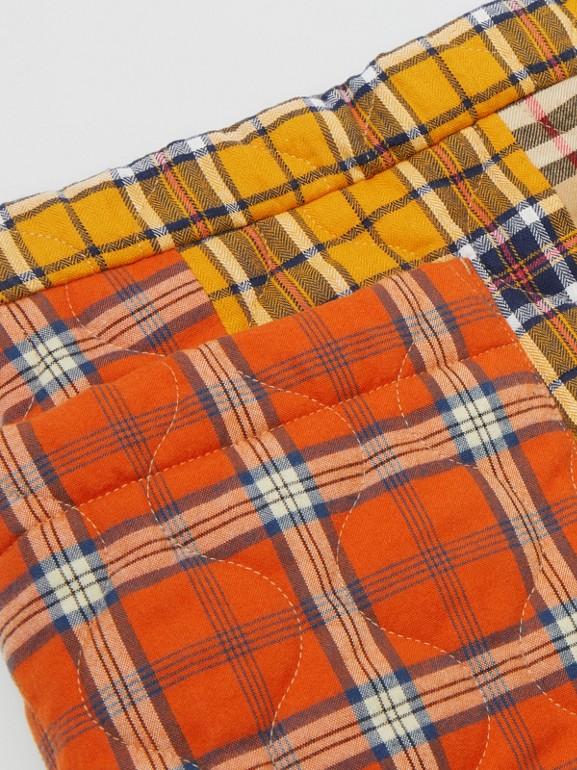 Jupe en flanelle de coton check (Jaune Suroît) | Burberry - cell image 1