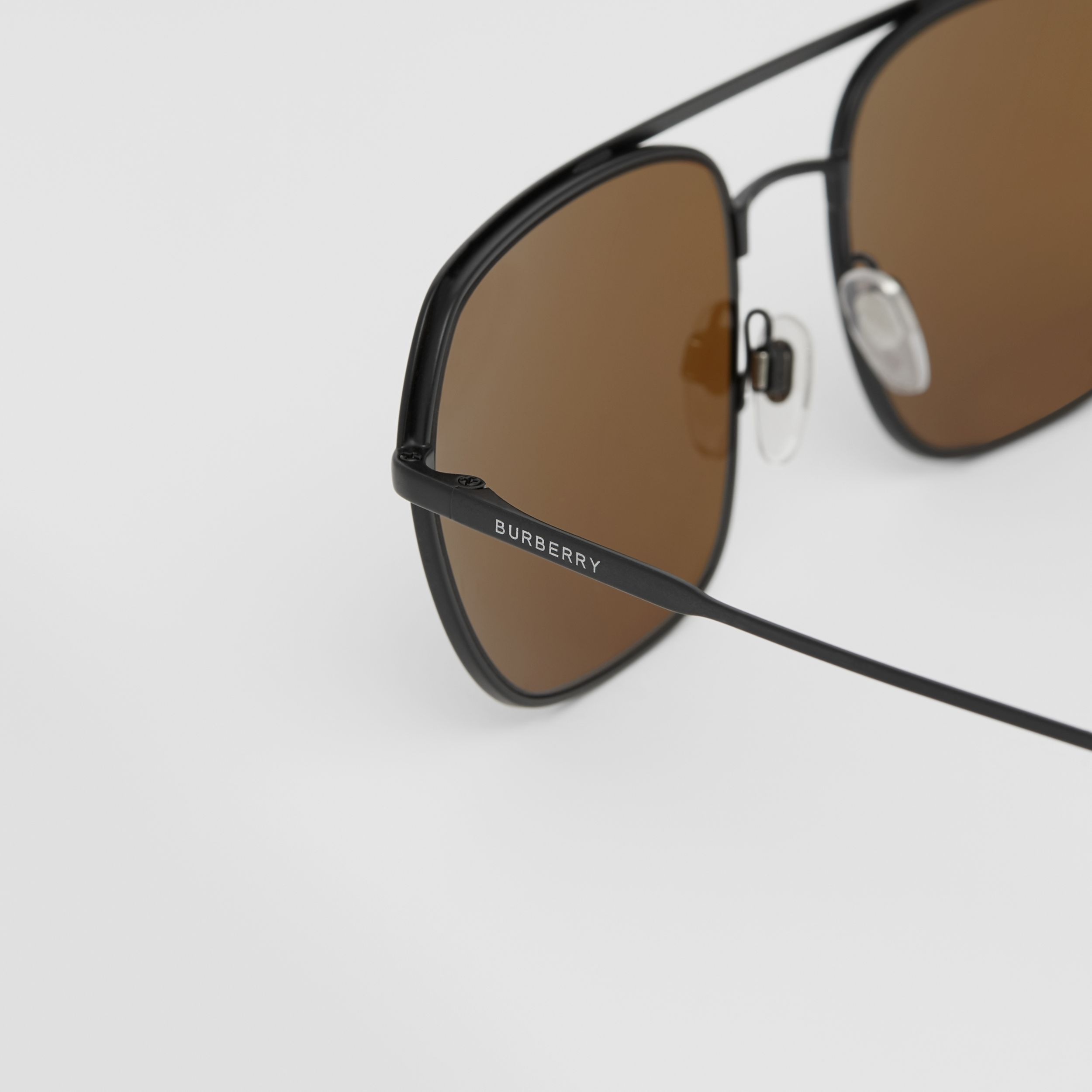 Square Pilot Sunglasses - Men | Burberry - 2