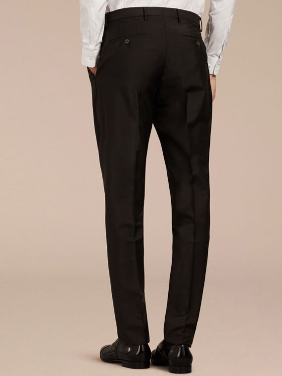 Black Modern Fit Wool Mohair Trousers Black - cell image 2