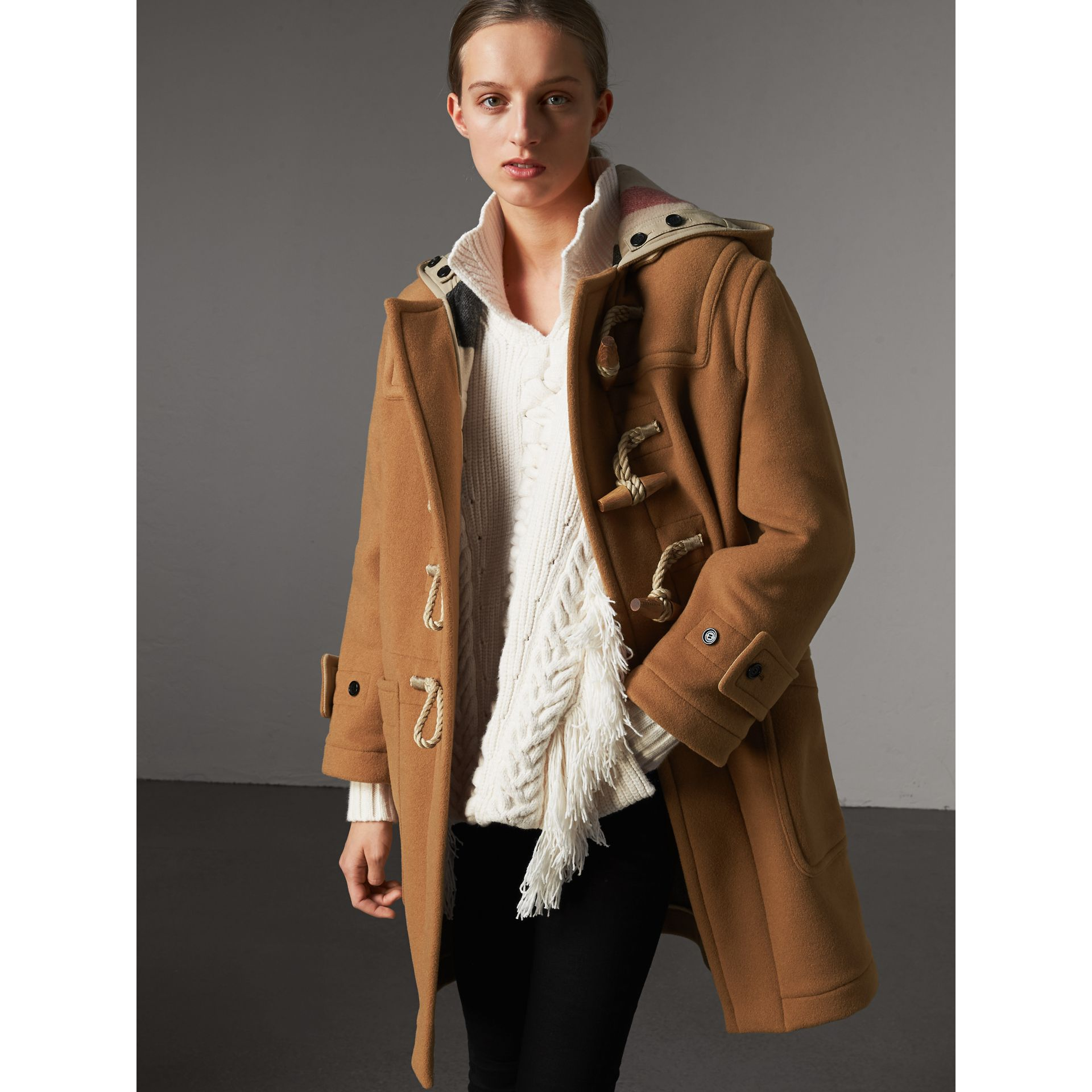The Greenwich Duffle Coat in Mid Camel - Women | Burberry United States - gallery image 5