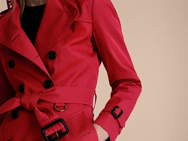 Rojo desfile Trench coat Chelsea – Trench coat Heritage largo Rojo Desfile - cell image 4