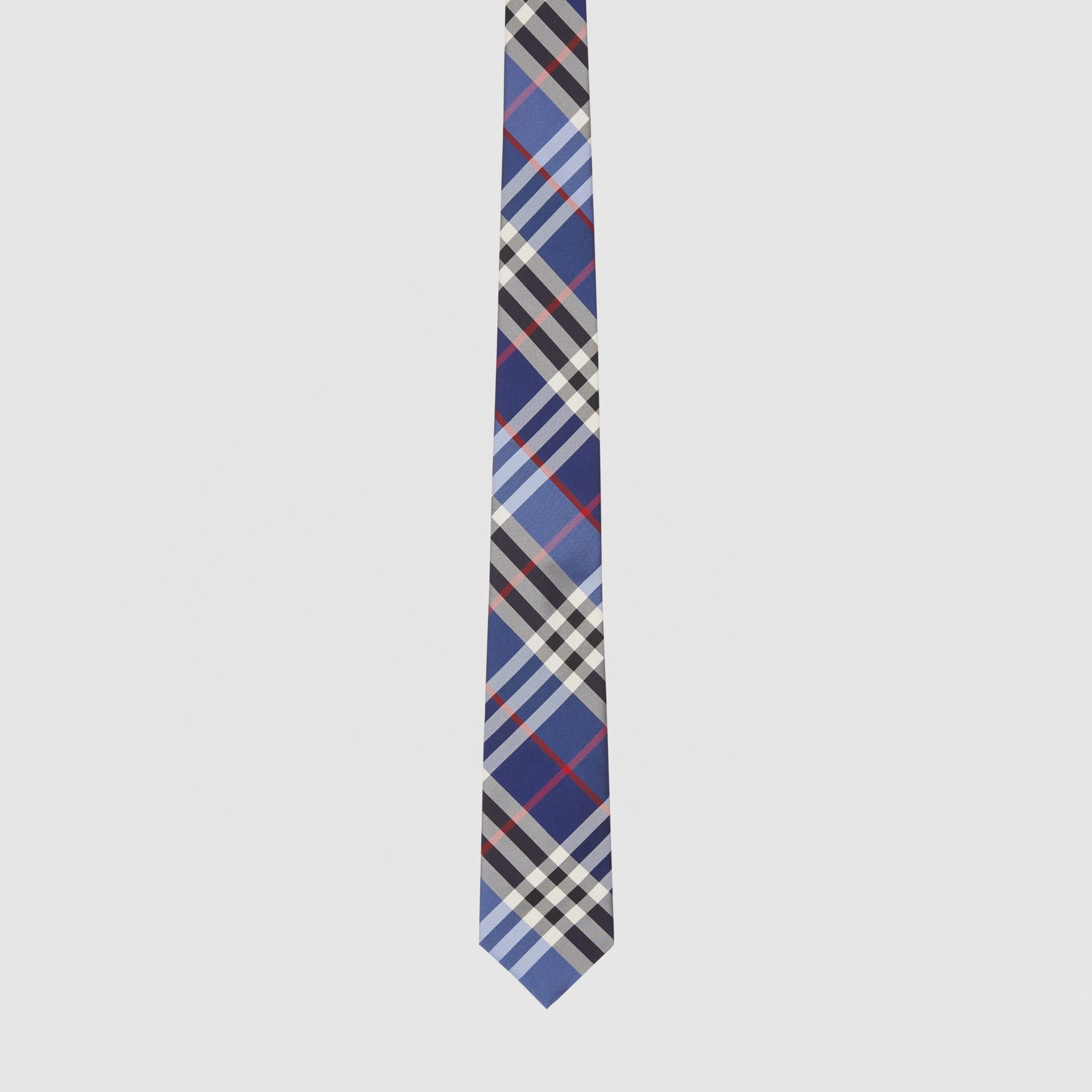 Classic Cut Check Silk Jacquard Tie in Navy - Men | Burberry Hong Kong S.A.R - gallery image 3