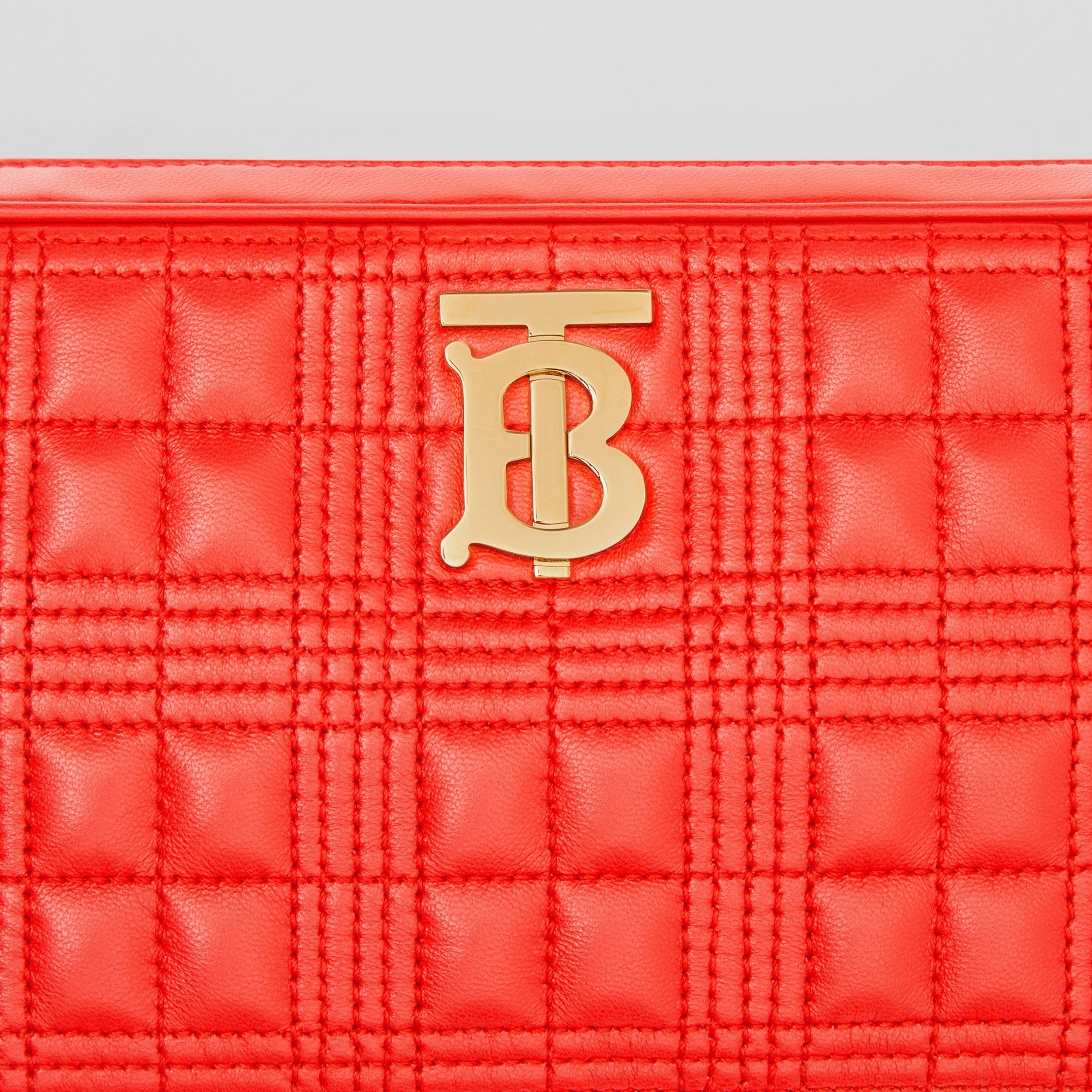 Quilted Lambskin Camera Bag in Bright Red - Women | Burberry - 2