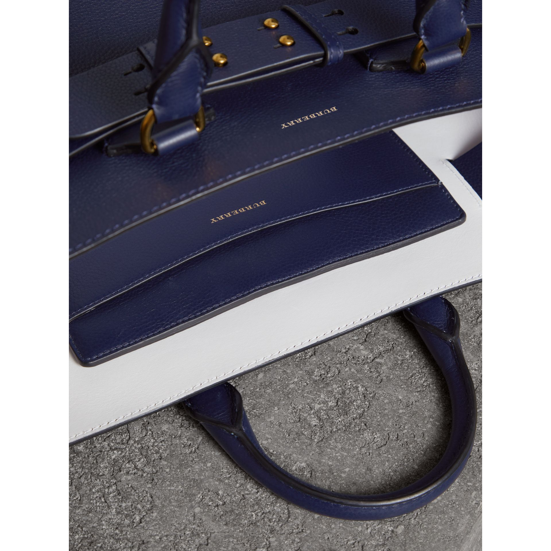 The Medium Leather Belt Bag in Regency Blue - Women | Burberry - gallery image 5