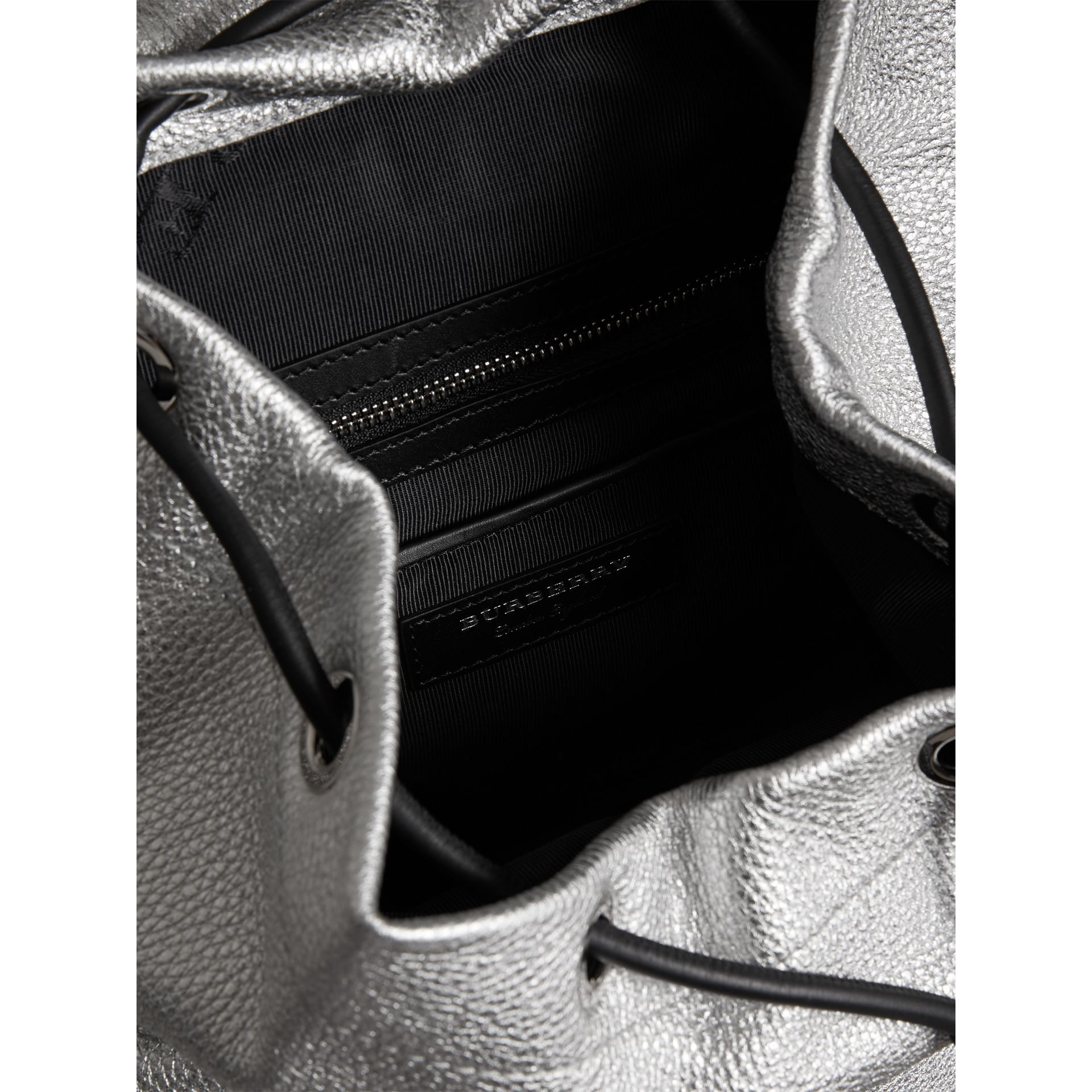 The Medium Rucksack in Metallic Deerskin in Silver - Women | Burberry - gallery image 5
