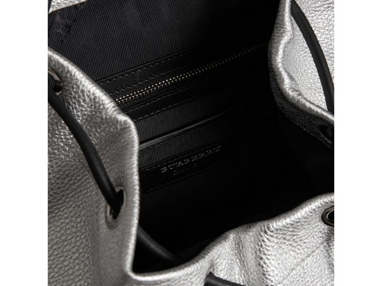 The Medium Rucksack in Metallic Deerskin in Silver - Women | Burberry Australia - cell image 4
