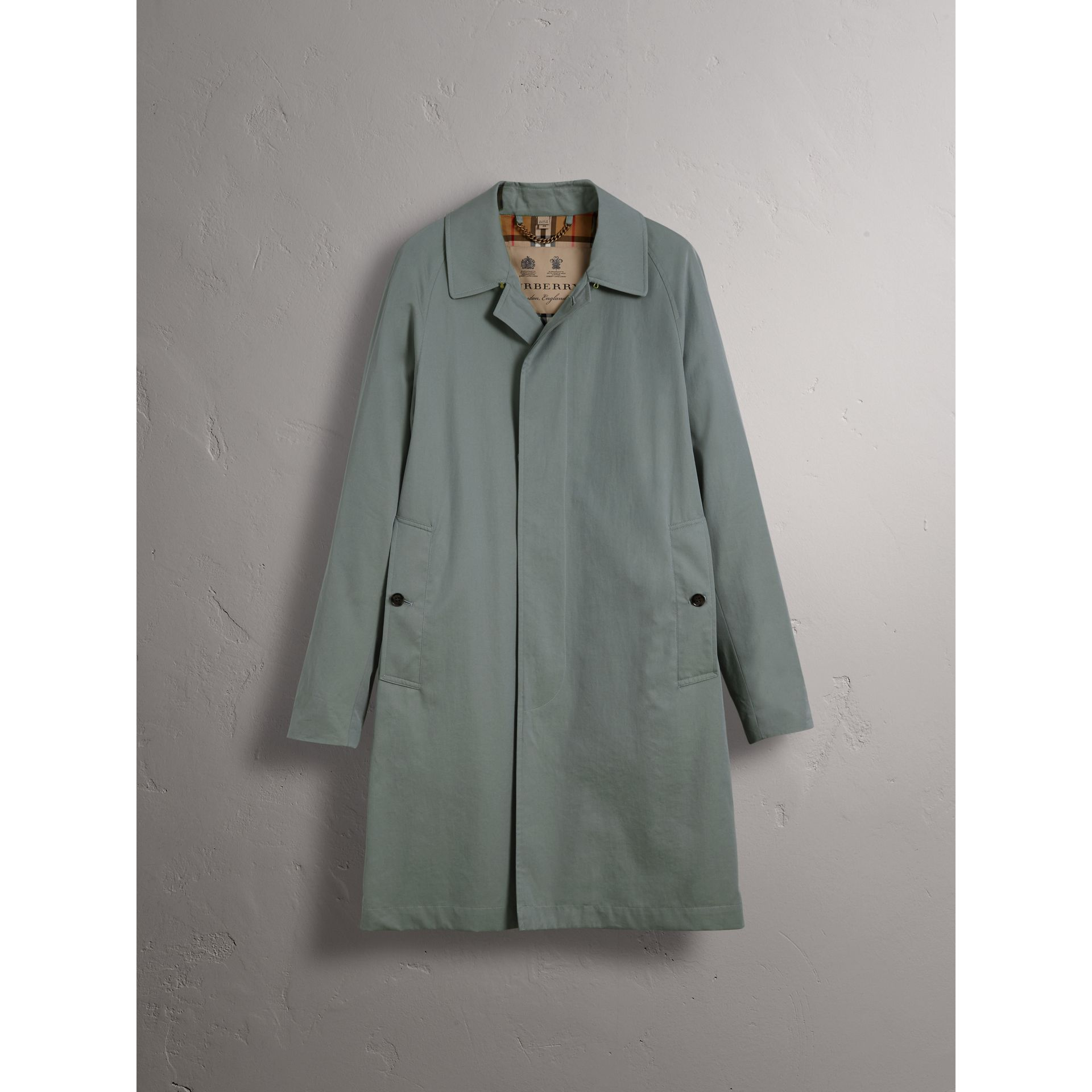 The Camden – Car Coat long (Bleu Cendré) - Homme | Burberry - photo de la galerie 4