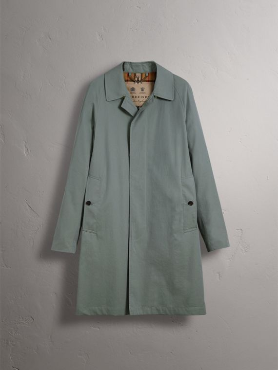The Camden – Long Car Coat in Dusty Blue - Men | Burberry Australia - cell image 3