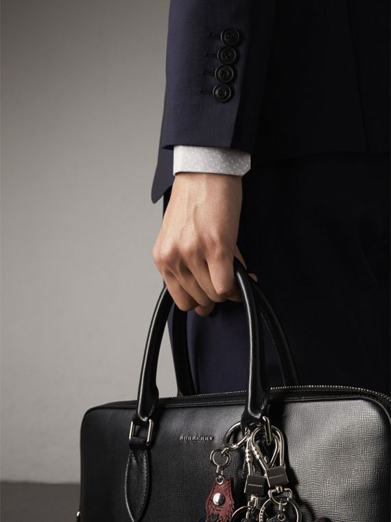 Soho Fit Wool Mohair Suit in Dark Navy - Men | Burberry - cell image 3