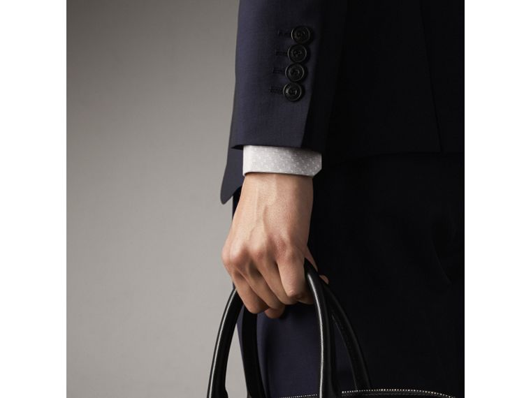 Soho Fit Wool Mohair Suit in Dark Navy - Men | Burberry - cell image 4