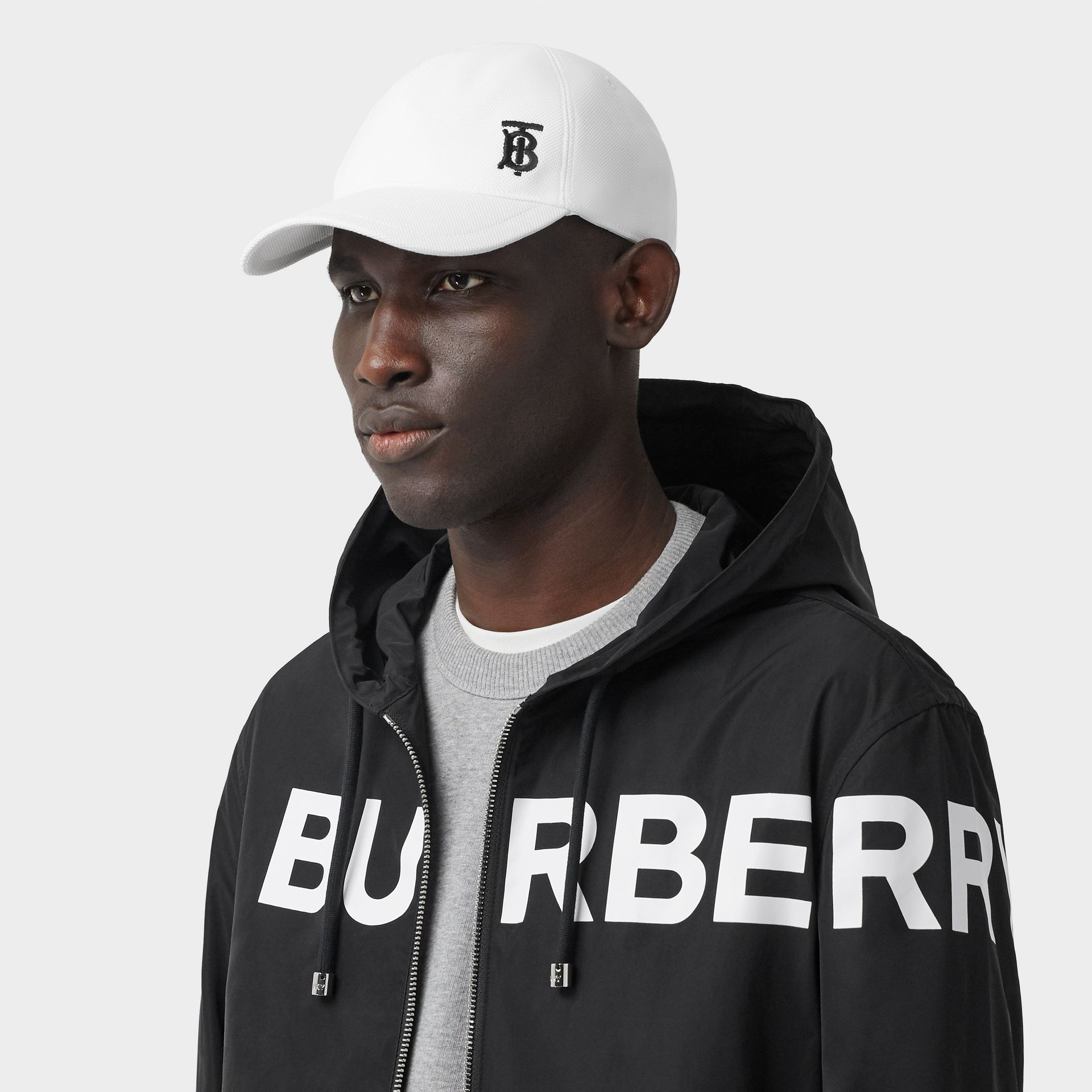 Monogram Motif Baseball Cap in White | Burberry United States - gallery image 3