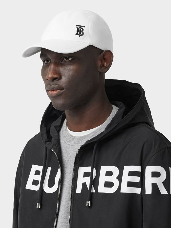 Monogram Motif Baseball Cap in White | Burberry - cell image 3