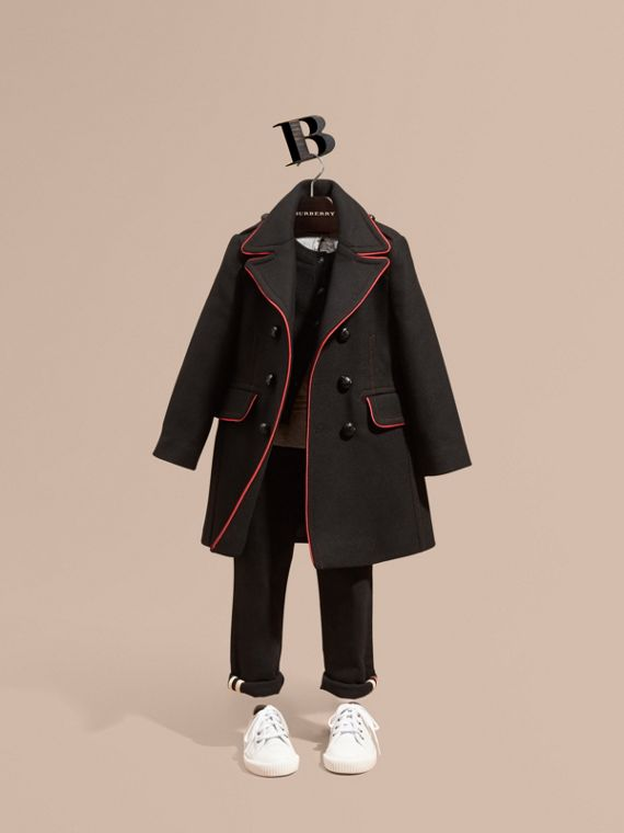 Technical Wool Cashmere Military Coat