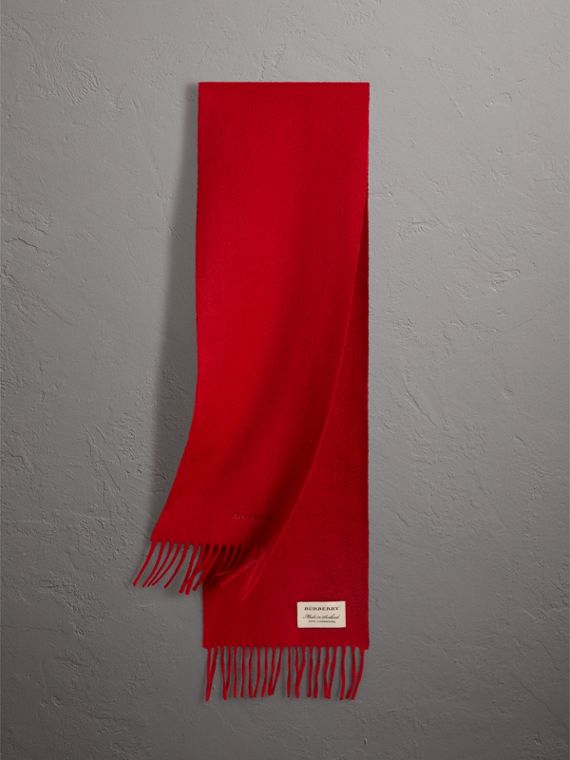 The Mini Classic Cashmere Scarf in Parade Red