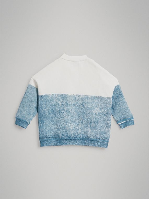 Sign Print Cotton Sweatshirt in Canvas Blue - Boy | Burberry - cell image 3