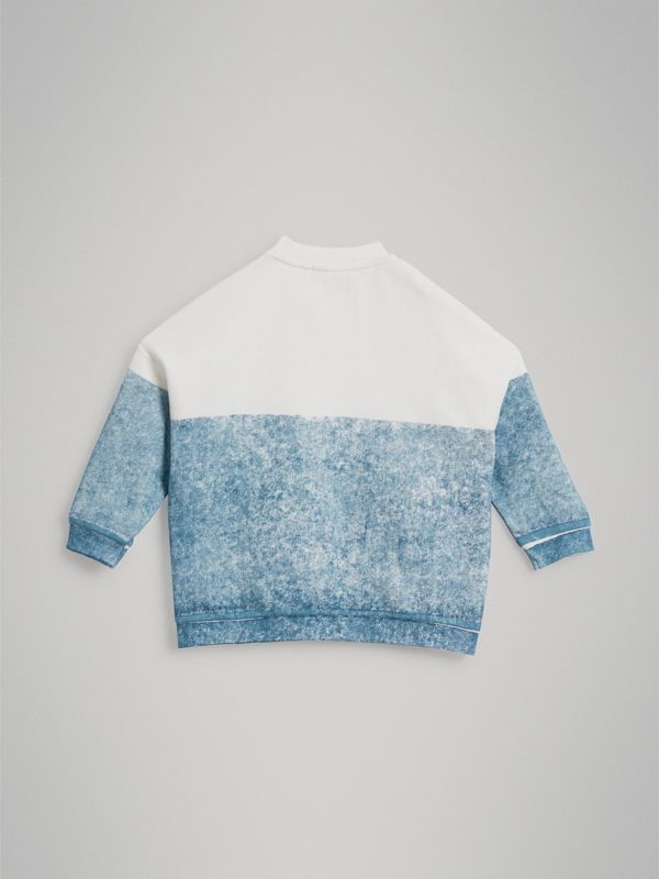 Sign Print Cotton Sweatshirt in Canvas Blue | Burberry Singapore - cell image 3