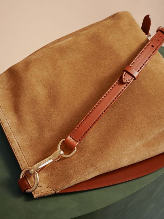 Tan The Small Bridle Bag in Leather and Suede - cell image 3