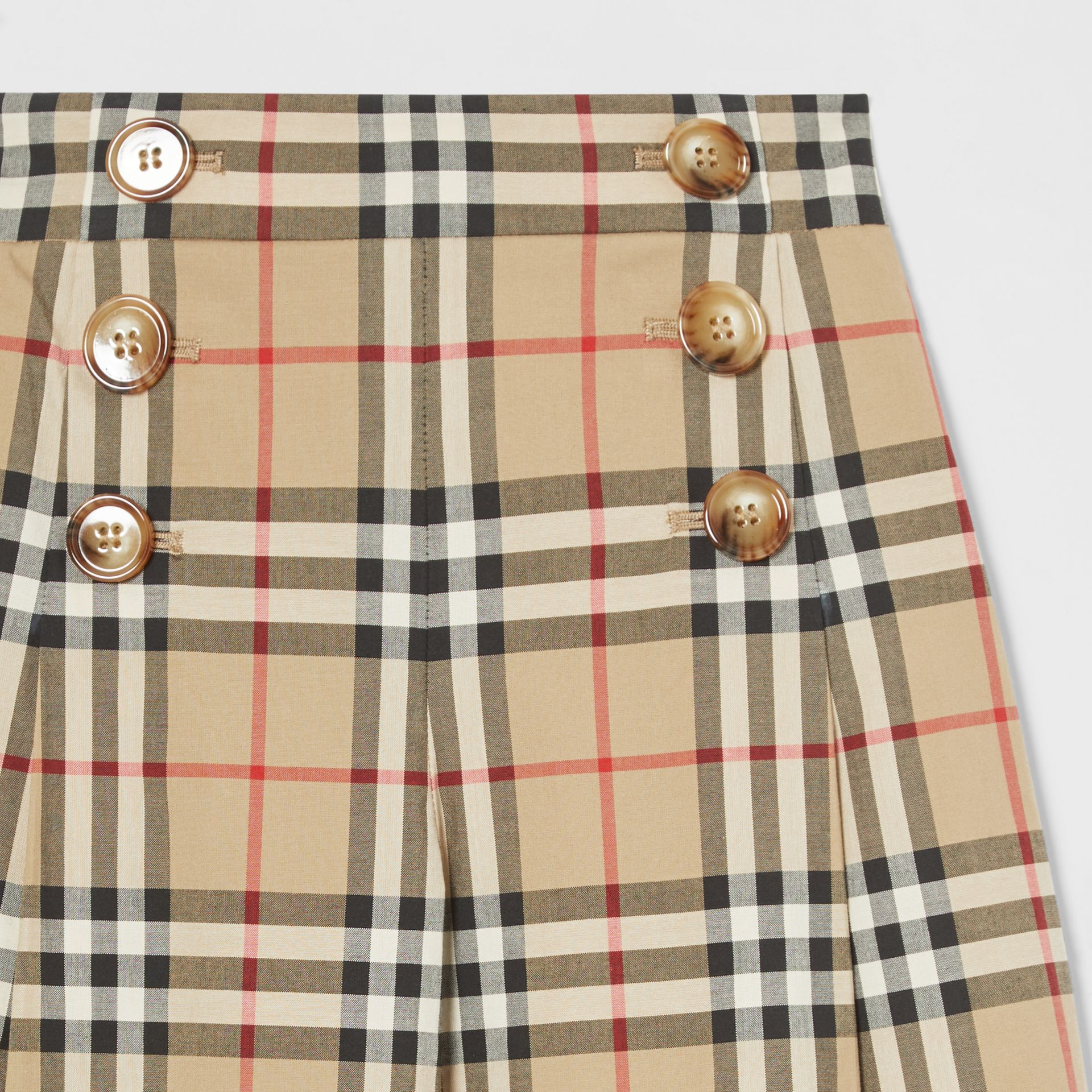Vintage Check Cotton Sailor Trousers in Archive Beige | Burberry - gallery image 5