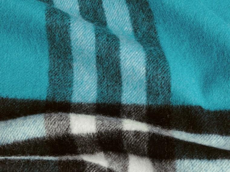 Acqua scuro Sciarpa classica in cashmere con motivo check Acqua Scuro - cell image 4