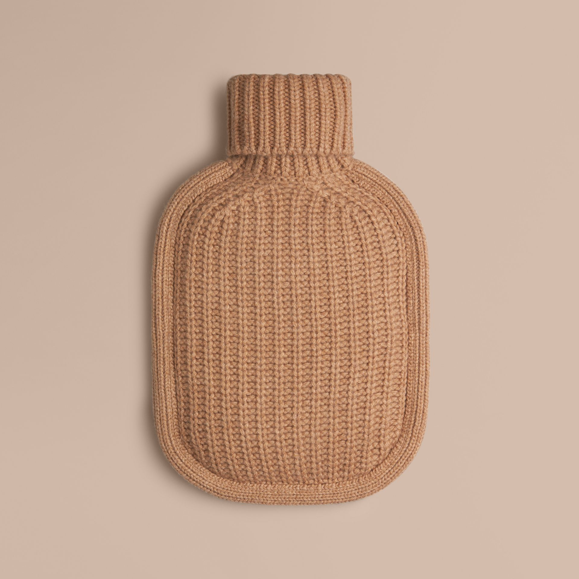 Camel Cashmere Hot Water Bottle Cover Camel - gallery image 1