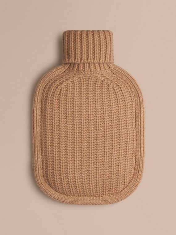 Cashmere Hot Water Bottle Cover Camel