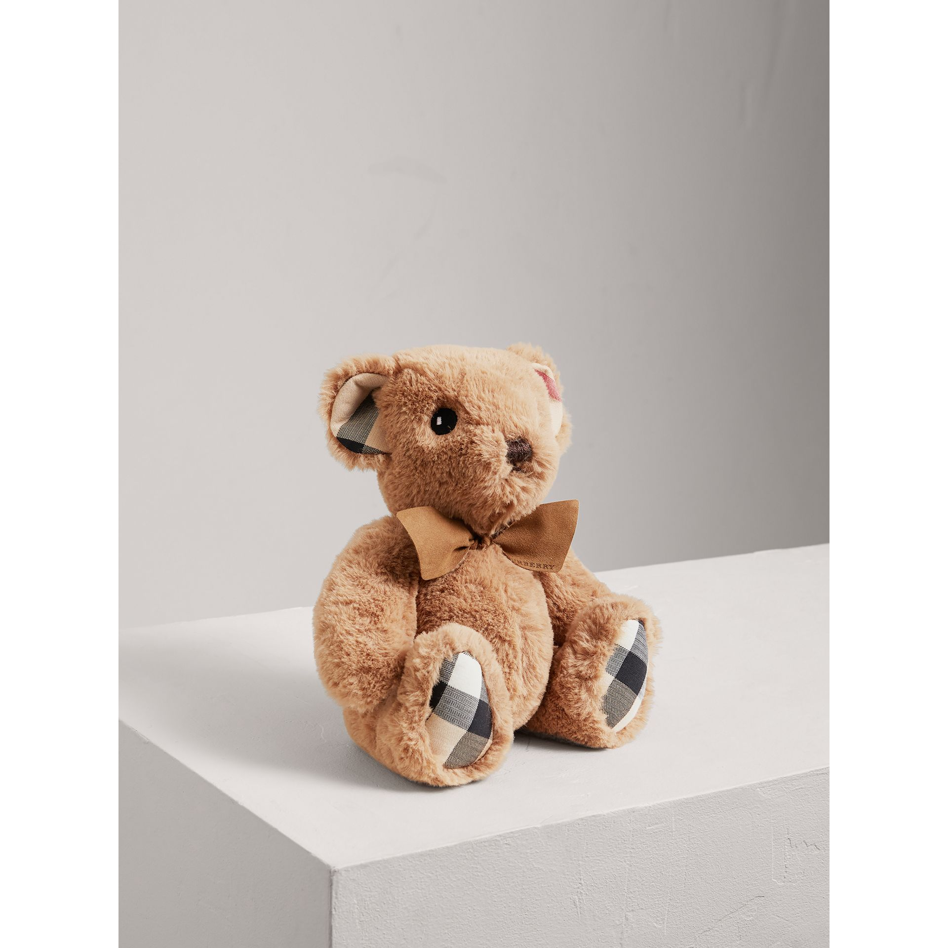 Thomas Baby Bear with Check Detail in Camel - Children | Burberry - gallery image 1