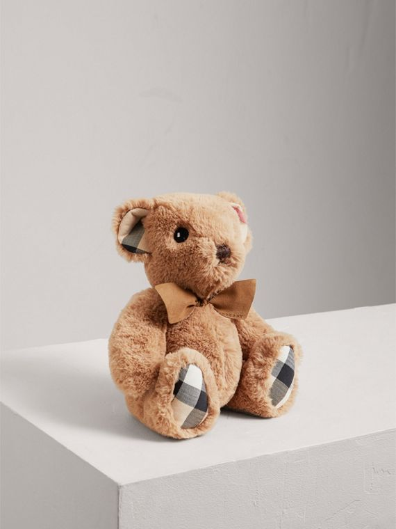 Thomas Baby Bear mit Check-Detail (Camelfarben)