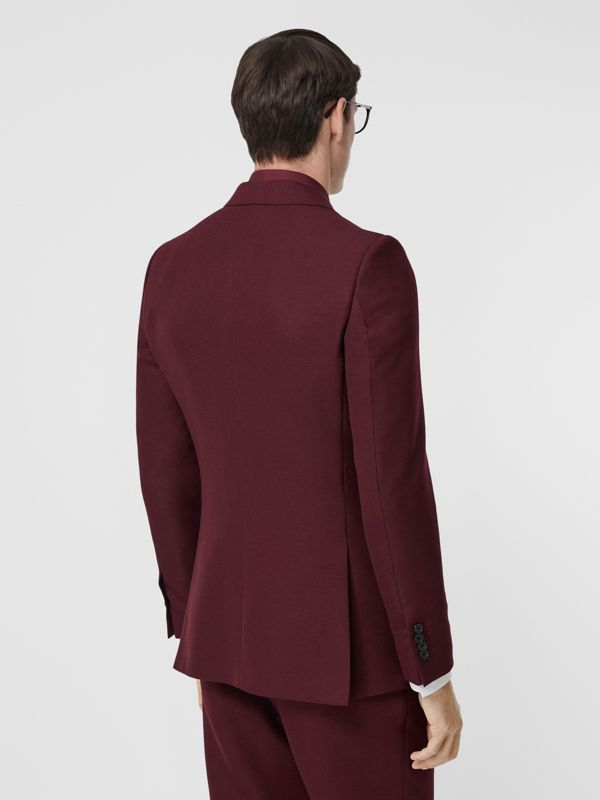 English Fit Wool Mohair Tailored Jacket in Deep Burgundy - Men | Burberry United States - cell image 2