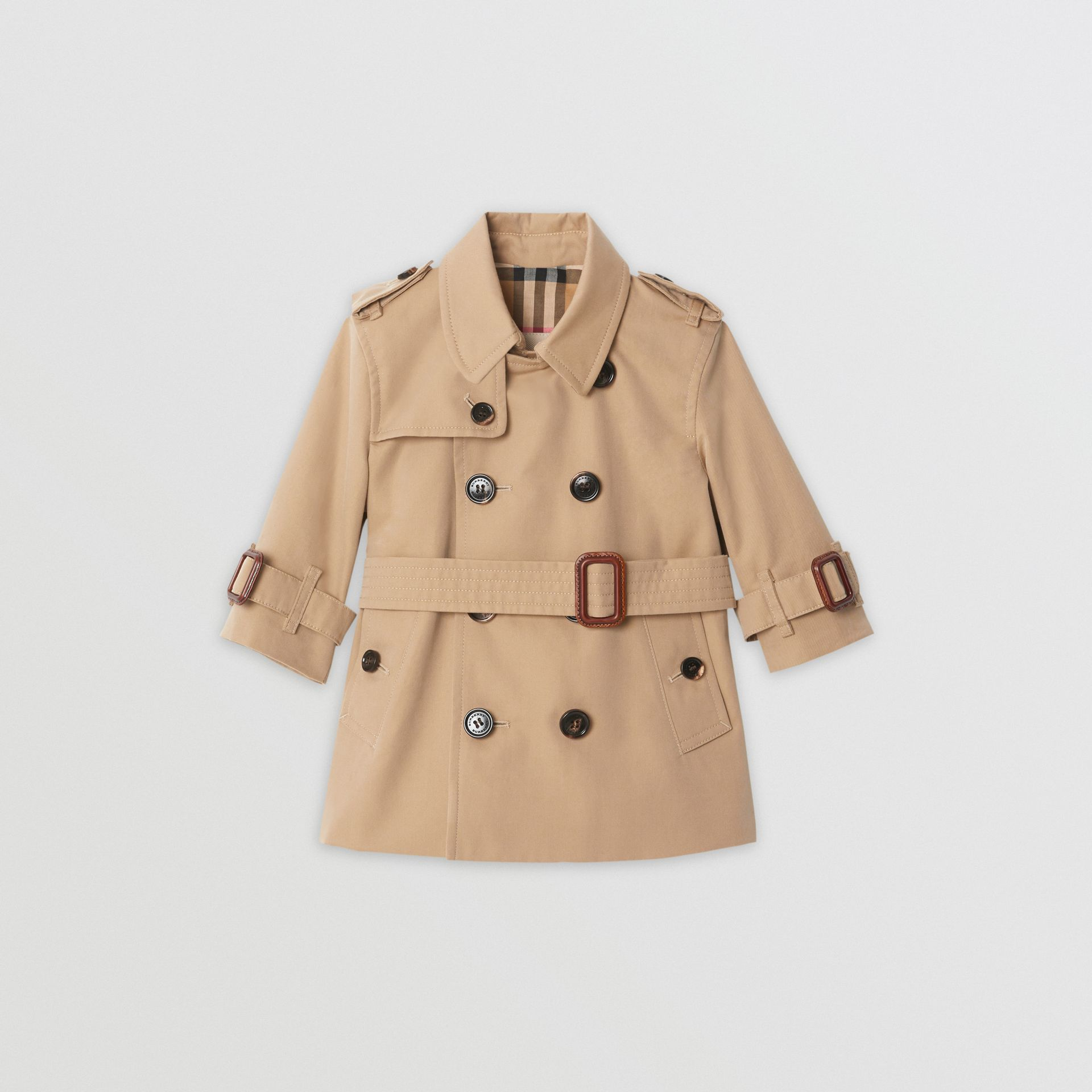 Cotton Gabardine Trench Coat in Honey - Children | Burberry United Kingdom - gallery image 0