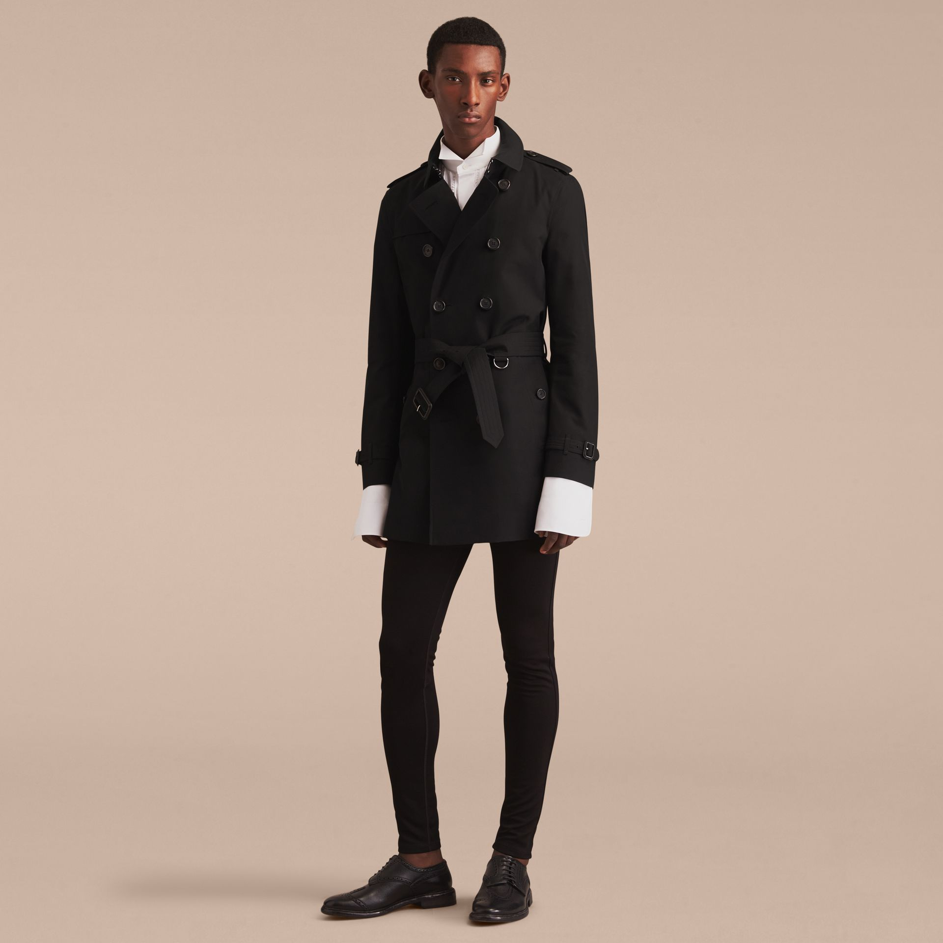 Black The Chelsea – Mid-length Heritage Trench Coat Black - gallery image 9