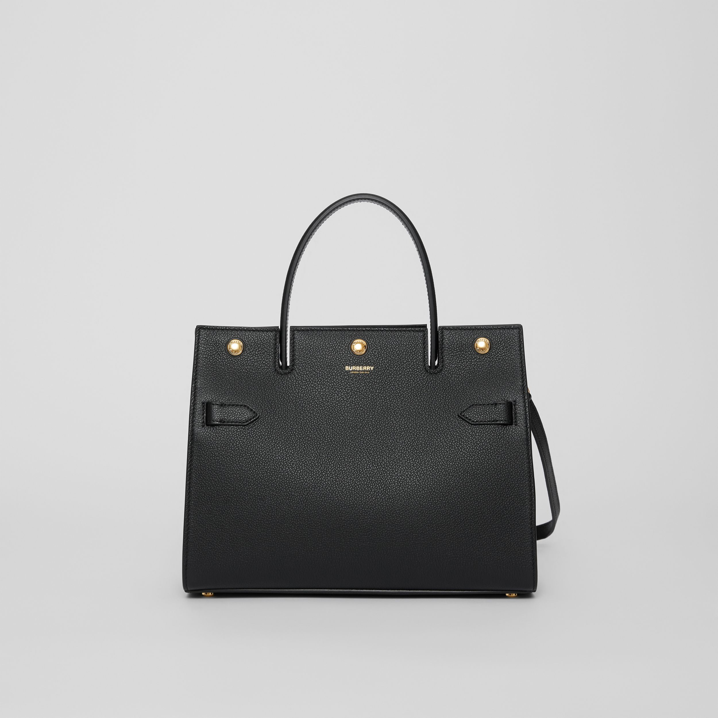Small Leather Title Bag in Black - Women | Burberry - 1