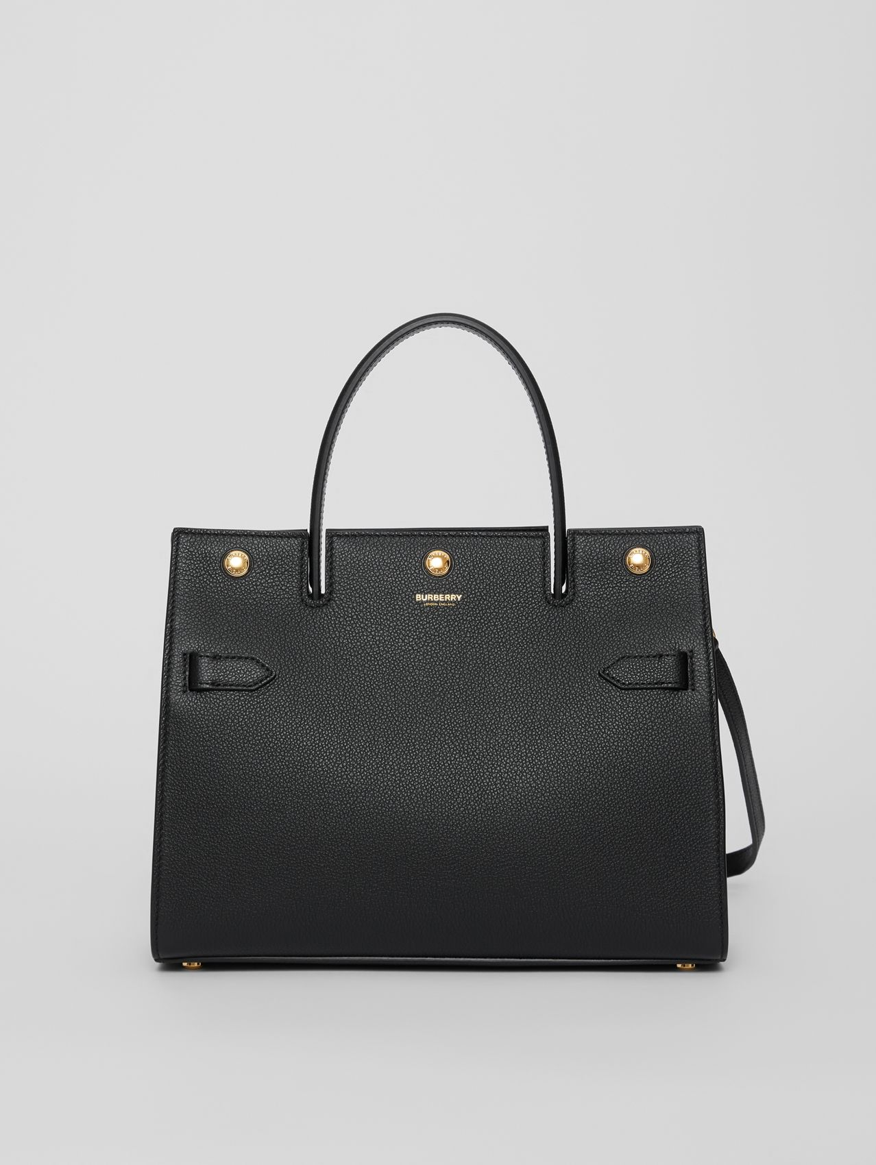 Small Leather Title Bag in Black