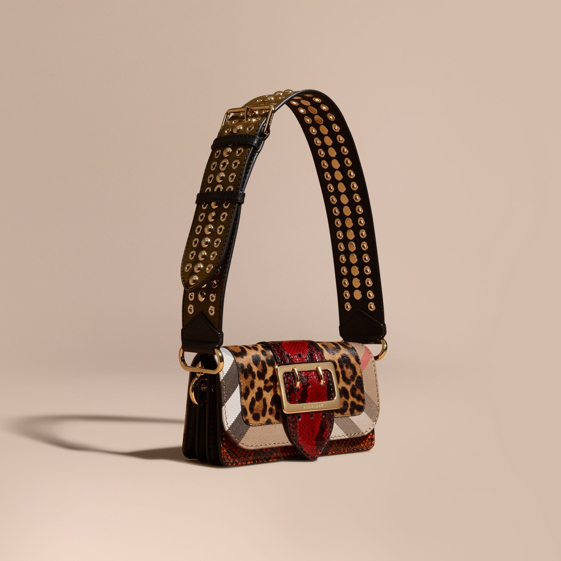 Multicolour The Patchwork in Leopard-print Calfskin and Snakeskin - gallery image 1