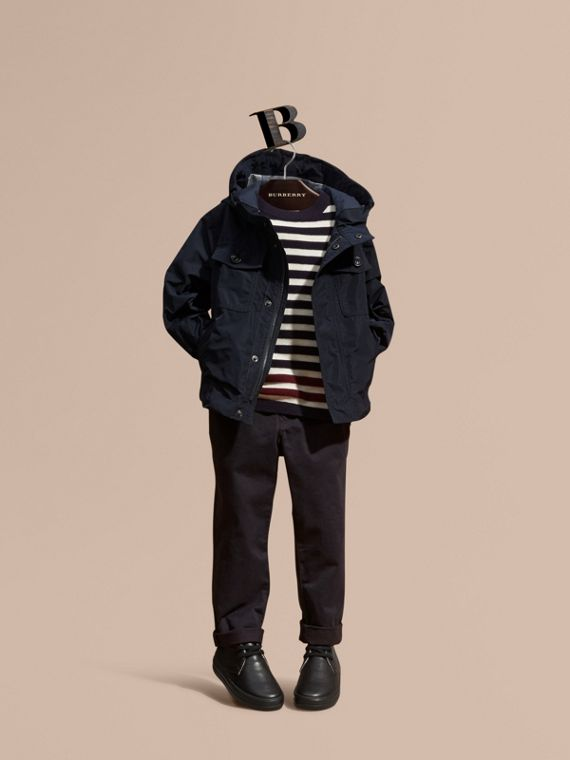 Hooded Field Jacket in Ink - Boy | Burberry