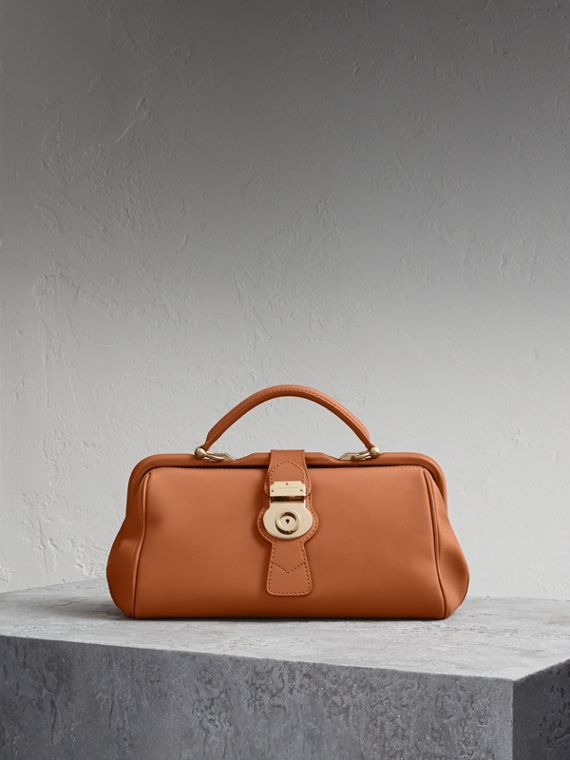 La borsa bowling in pelle Trench Toffee Brillante