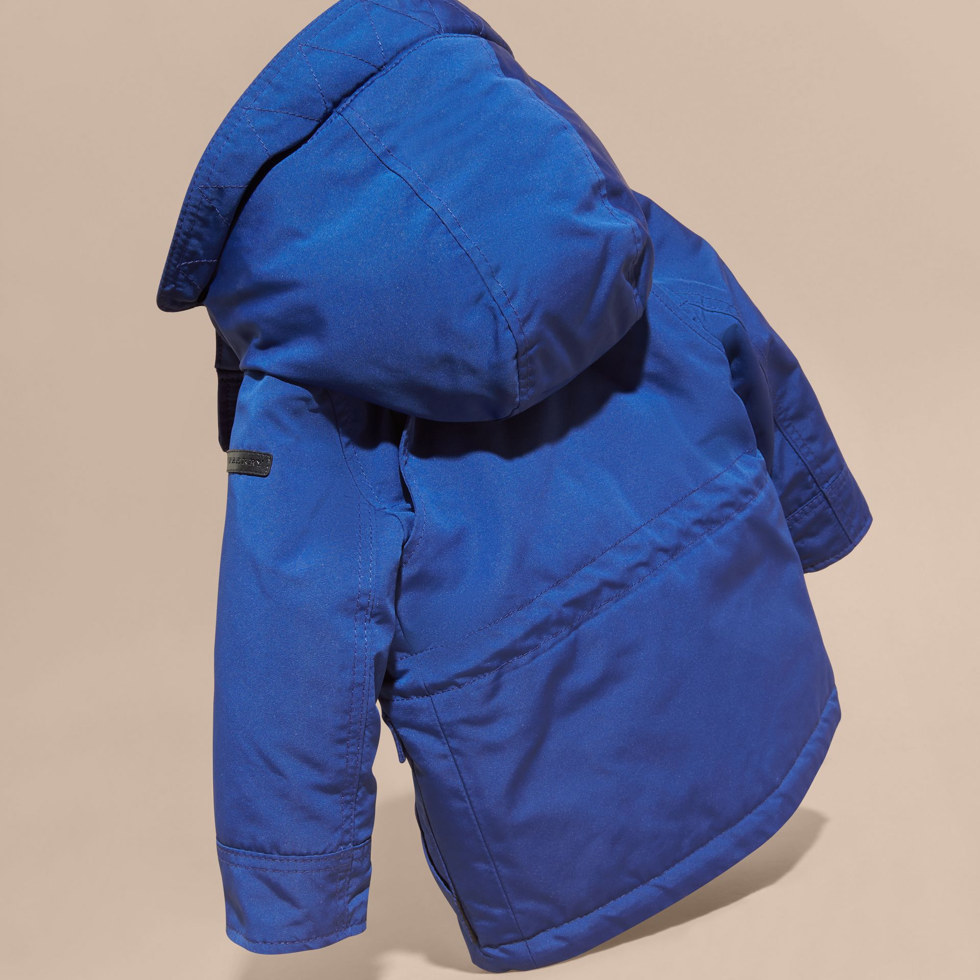 Bright cobalt Down-filled Jacket with Faux-fur-lined Hood Bright Cobalt - gallery image 4