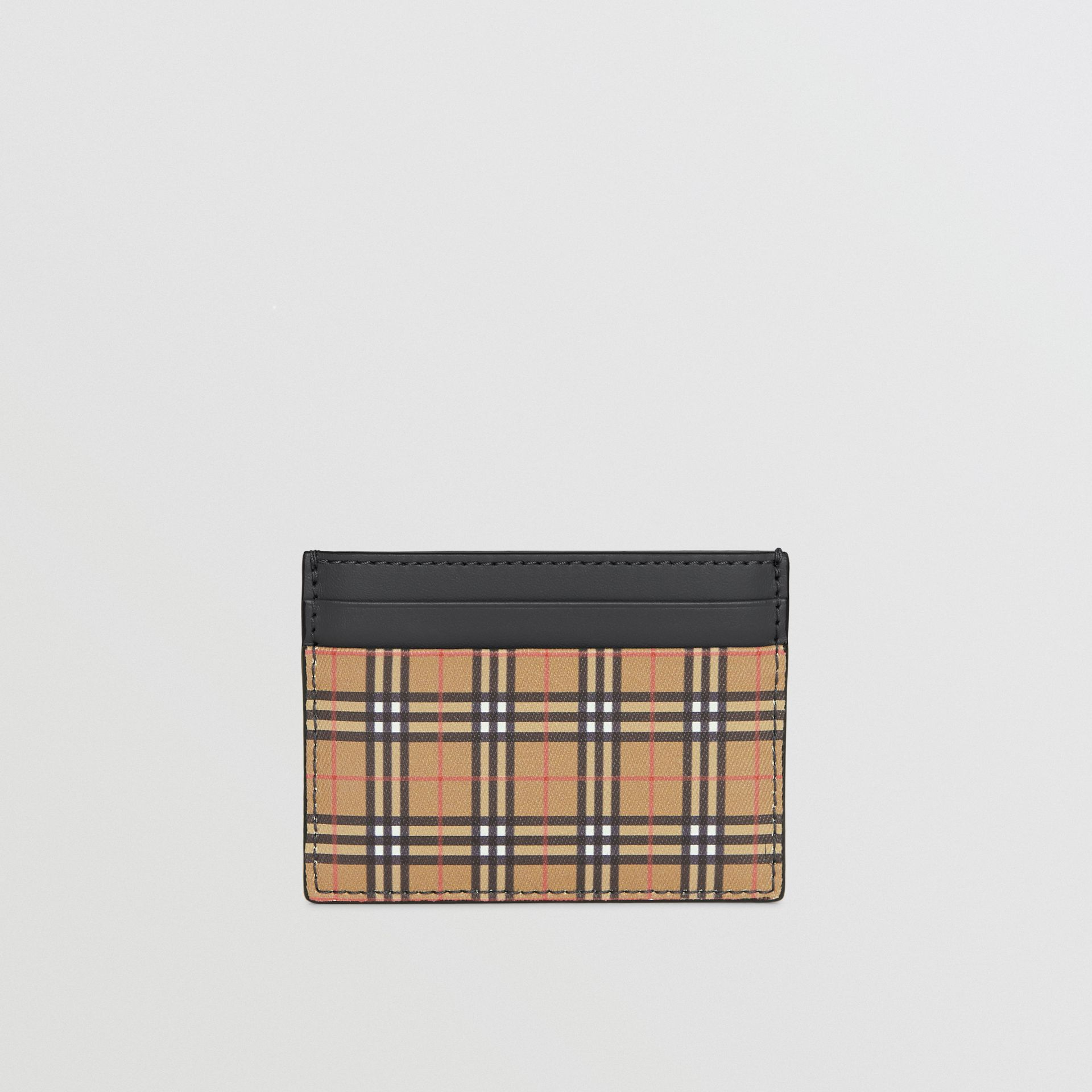 Vintage Check and Leather Card Case in Antique Yellow/dark Grey - Men | Burberry Hong Kong - gallery image 2