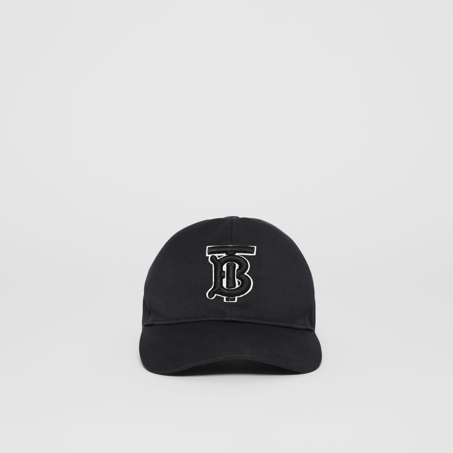 Monogram Motif Baseball Cap in Black / Black | Burberry - gallery image 4