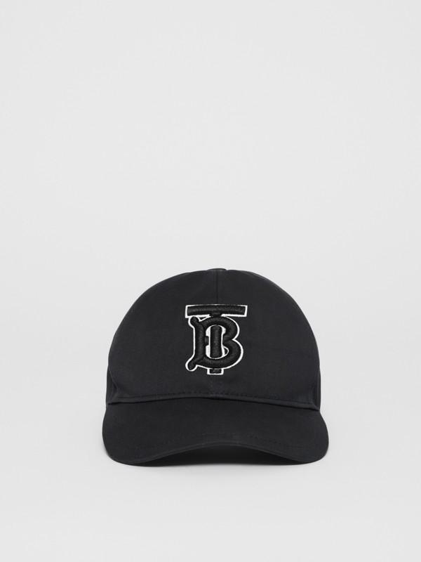 Boné de beisebol com monograma (Preto / Preto) | Burberry - cell image 3