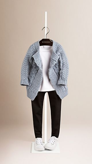 Cable Knit Cotton Cashmere Cardigan