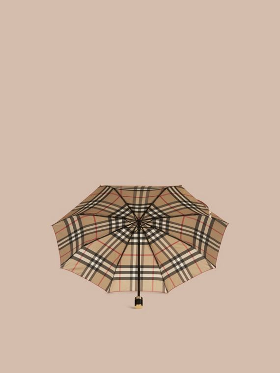 Check Folding Umbrella Camel - cell image 3