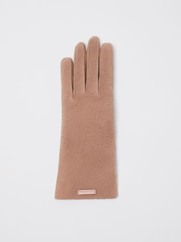 Shearling and Leather Gloves in Dusty Pink | Burberry - cell image 2