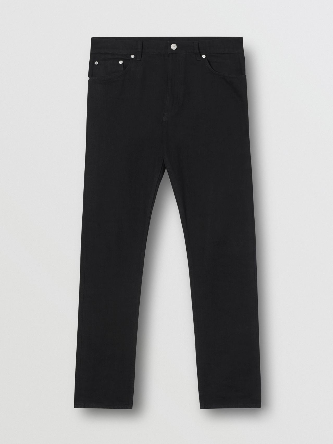 Straight Fit Japanese Denim Jeans in Black