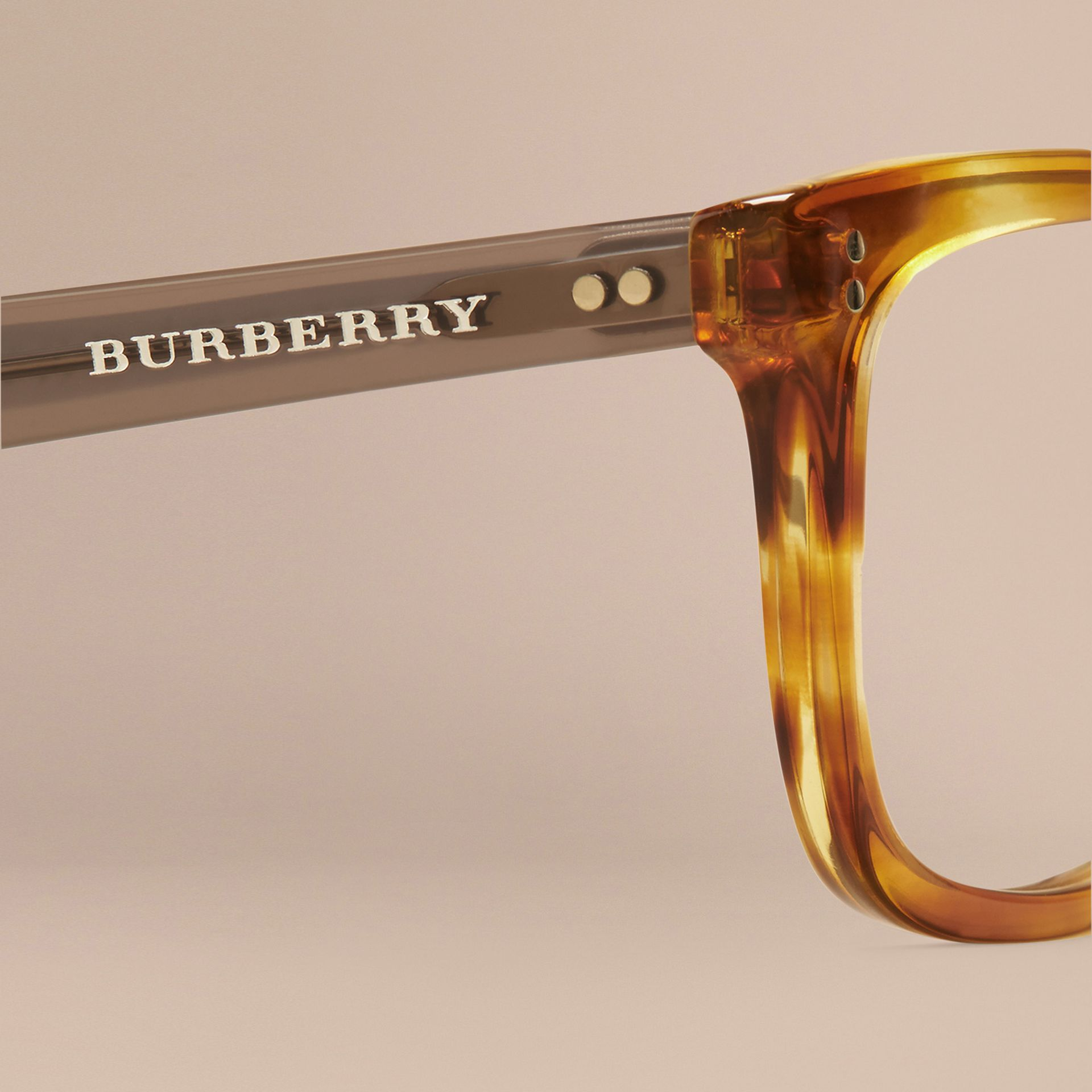 Square Optical Frames Tortoise Amber - gallery image 5