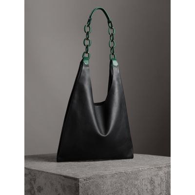 Burberry - Medium Two-tone Leather Shopper - 5
