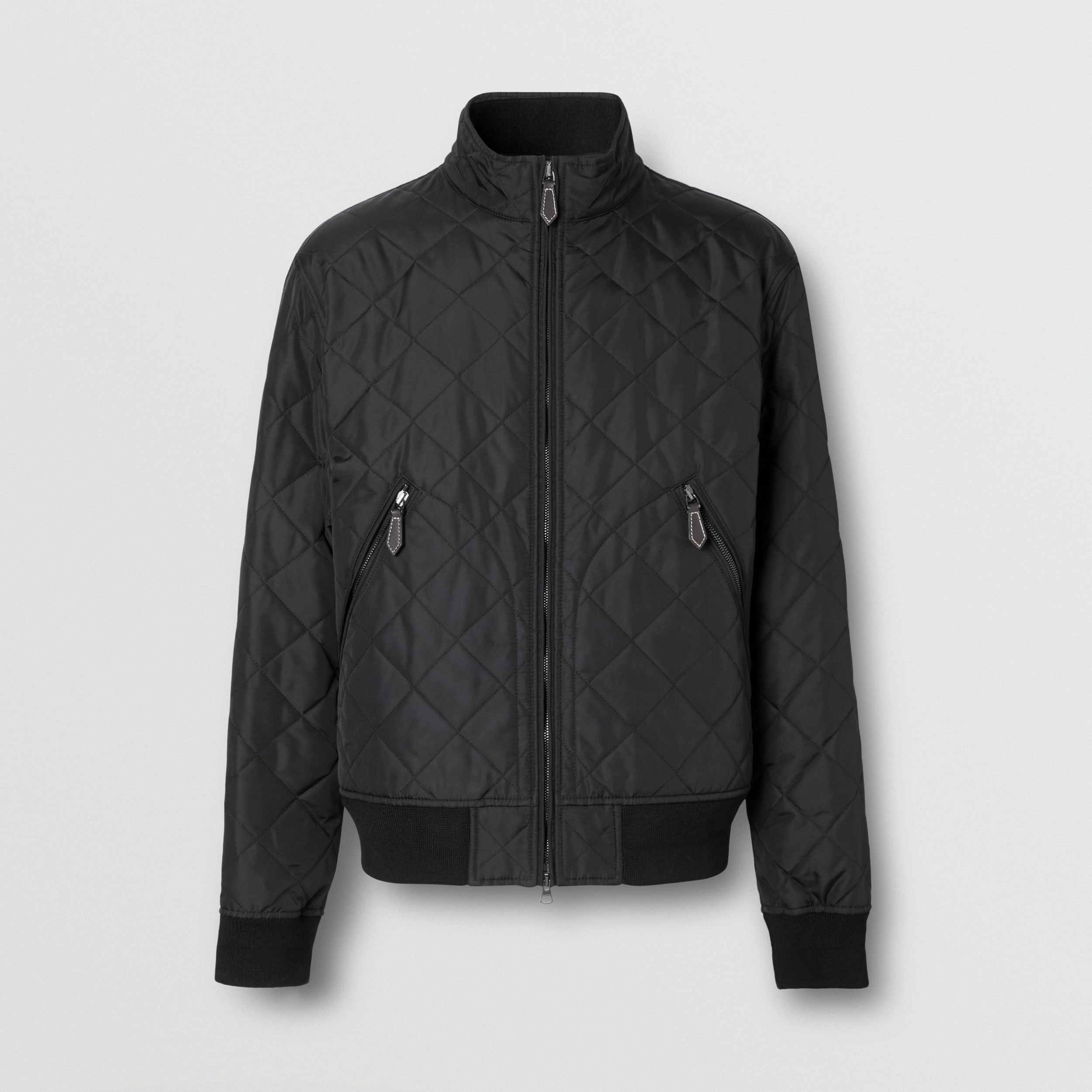 Diamond Quilted Thermoregulated Jacket in Black - Men | Burberry - 4