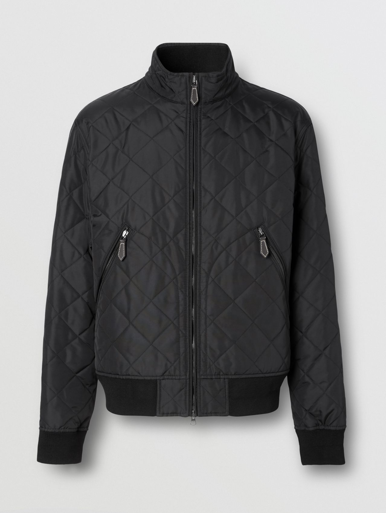 Diamond Quilted Thermoregulated Jacket in Black