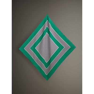 contrasting stripe bandana - Green Burberry FFJXPV7XI