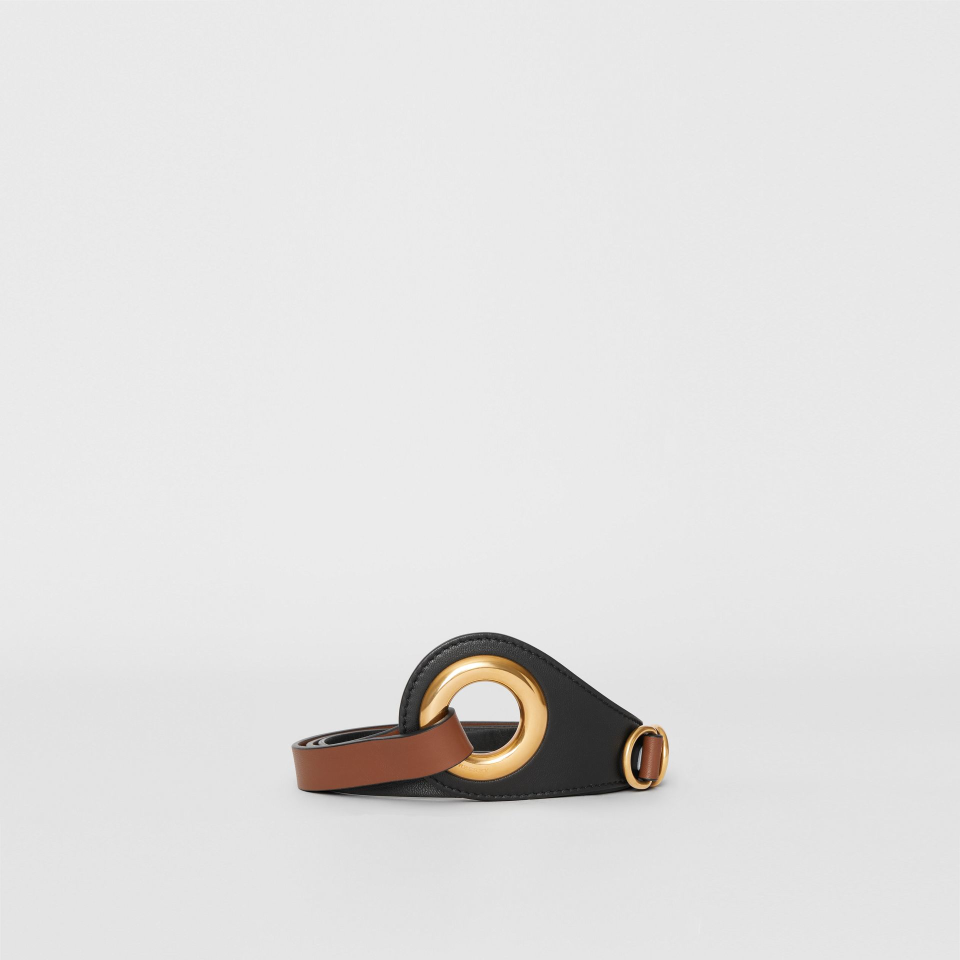 Grommet Detail Lambskin Waist Belt in Tan/black - Women | Burberry - gallery image 3