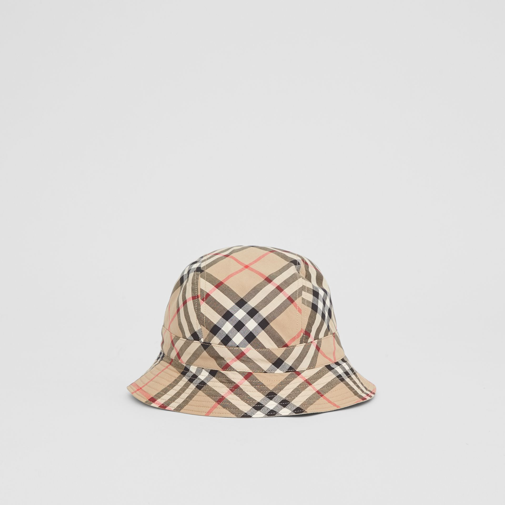 Reversible Vintage Check Bucket Hat in Archive Beige - Children | Burberry - gallery image 4